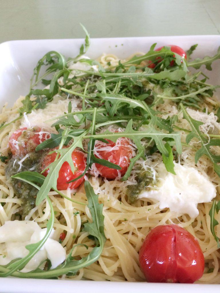 Spaghettini met knoflook, olie en chili
