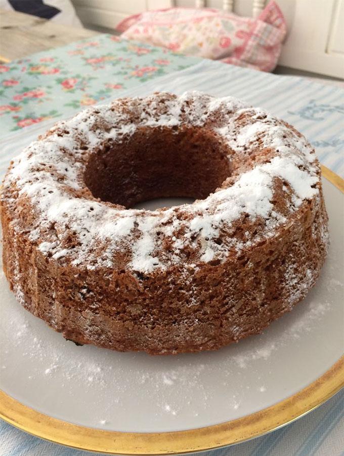 Cake met het gouden randje