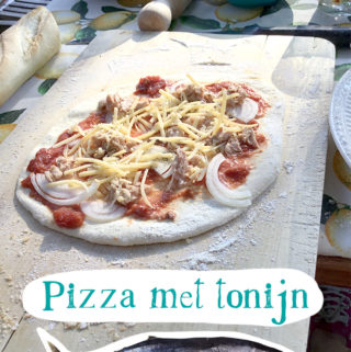 Pizza met tonijn