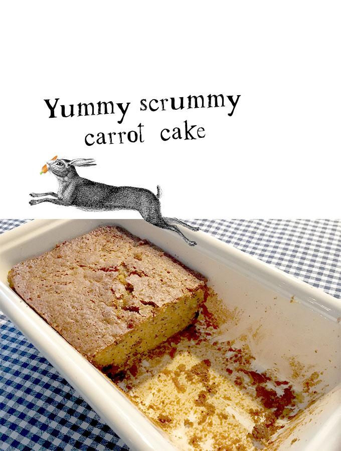 Yummy scrummy carrot cake haas