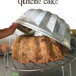 Quiche cake recept
