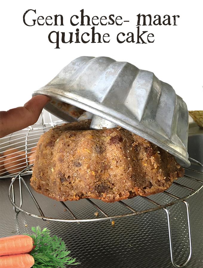 Geen cheese- maar quichecake