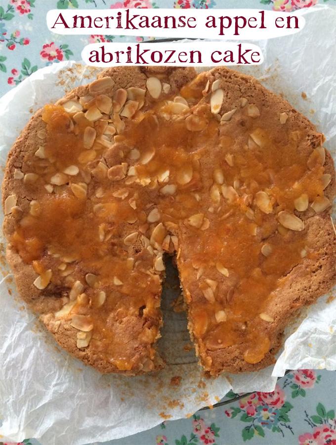Amerikaanse appel en abrikozen cake