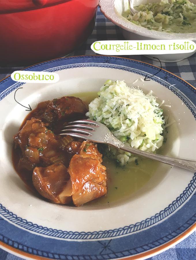 Courgette-limoen risotto