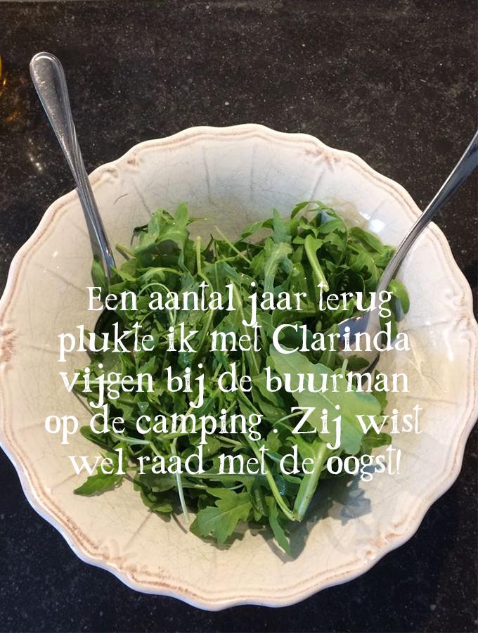 Salade van vijgen