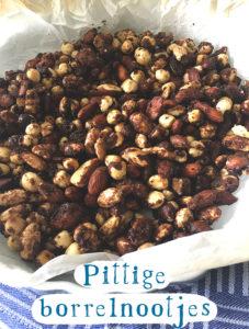 Pittige borrelnootjes recept