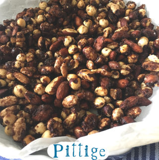 Pittige borrelnootjes recept