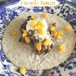 Tortilla's met zwarte bonen recept