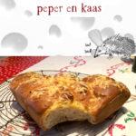 Breekbrood met rode peper en kaas recept