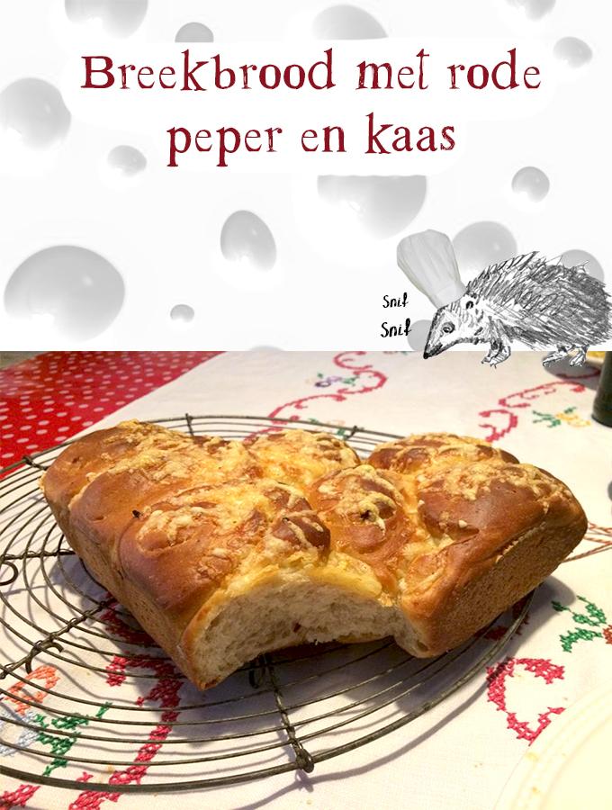 Breekbrood met rode peper en kaas