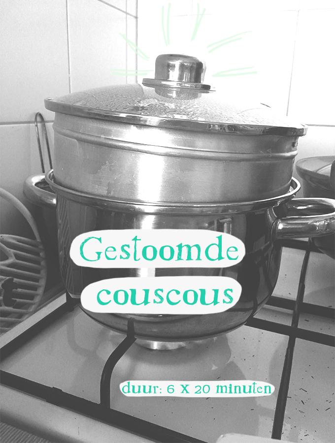 Gestoomde couscous