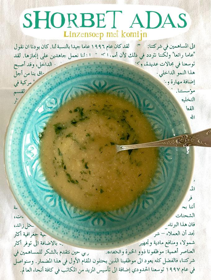 Shorbet adas recept