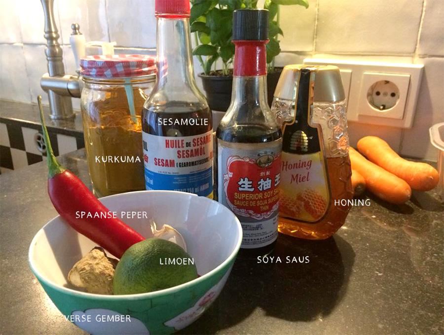Ingredienten woksaus