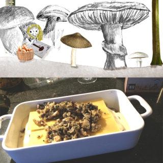 Lasagne met paddenstoelen recept