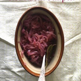 Rode uien compote recept