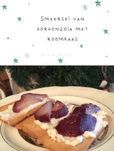 Smeersel van Gorgonzola met roomkaas