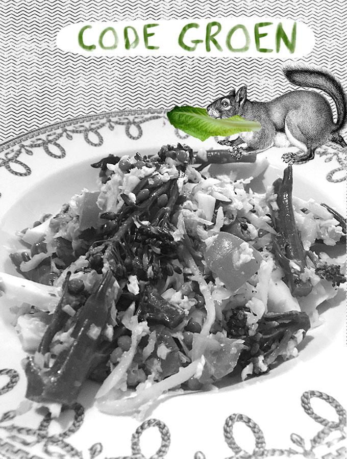 Code groen salade