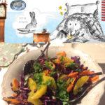 Konijnenvoer salade rode kool