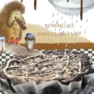 Glutenvrije rommelige chocoladetaart