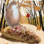 Cake met appel en noten en winterkruiden