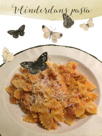 Farfalle met pancetta