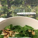 Vegetarische spinazie salade