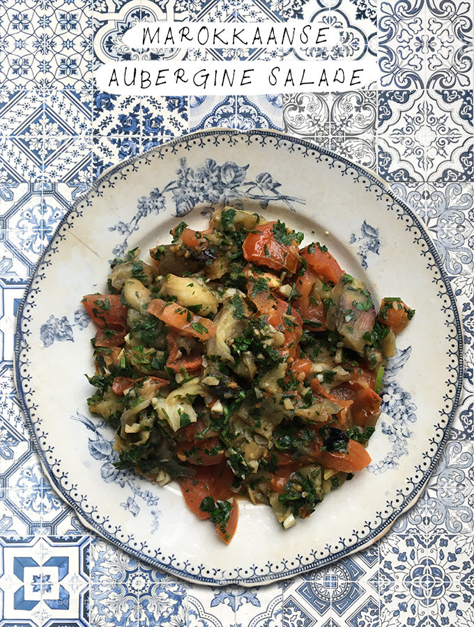 Marokkaanse aubergine salade